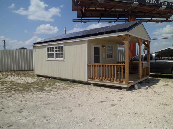 Lovely We Have This Derksen Portable Building As Our Office In Del Rio, Texas. The  Solar Panels And Battery System Supply 100% Of The Power We Need For The  Whole ...